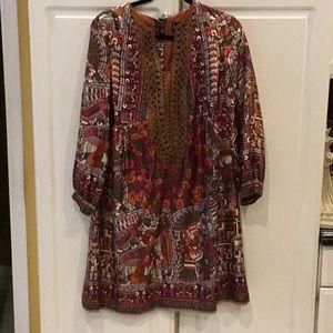 Nicole Miller Collection Silk Boho Dress
